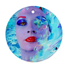 Swimming Into The Blue Ornament (round)  by icarusismartdesigns