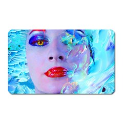 Swimming Into The Blue Magnet (rectangular) by icarusismartdesigns