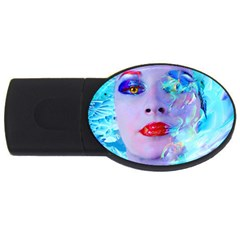 Swimming Into The Blue Usb Flash Drive Oval (2 Gb)  by icarusismartdesigns