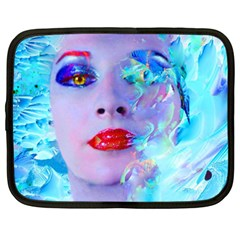 Swimming Into The Blue Netbook Case (xxl)  by icarusismartdesigns