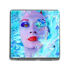 Swimming Into The Blue Memory Card Reader (square) by icarusismartdesigns