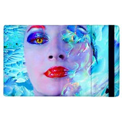 Swimming Into The Blue Apple Ipad 2 Flip Case by icarusismartdesigns