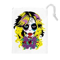Gothic Sugar Skull Drawstring Pouches (extra Large)
