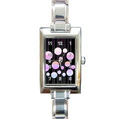 Pink Elegance  Rectangle Italian Charm Watch by Valentinaart