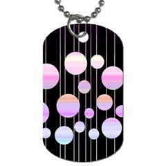 Pink Elegance  Dog Tag (two Sides) by Valentinaart
