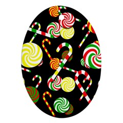 Xmas Candies  Ornament (oval)  by Valentinaart