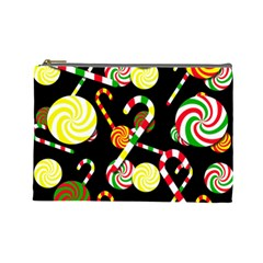 Xmas Candies  Cosmetic Bag (large)  by Valentinaart