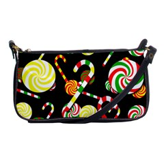 Xmas Candies  Shoulder Clutch Bags by Valentinaart