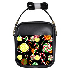 Xmas Candies  Girls Sling Bags by Valentinaart