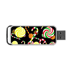 Xmas Candies  Portable Usb Flash (two Sides) by Valentinaart