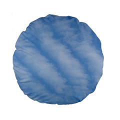 Wavy Clouds Standard 15  Premium Round Cushions by GiftsbyNature