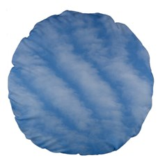 Wavy Clouds Large 18  Premium Flano Round Cushions by GiftsbyNature