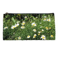 White Daisy Flowers Pencil Cases