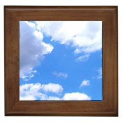 Clouds And Blue Sky Framed Tiles by picsaspassion