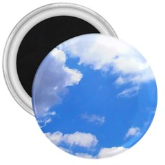 Clouds And Blue Sky 3  Magnets by picsaspassion