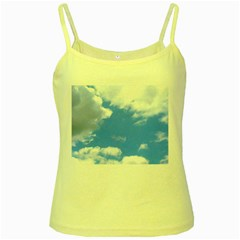 Clouds And Blue Sky Yellow Spaghetti Tank by picsaspassion