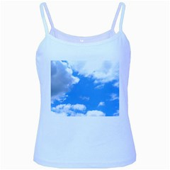 Clouds And Blue Sky Baby Blue Spaghetti Tank by picsaspassion