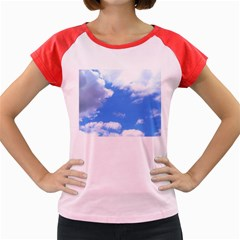 Clouds And Blue Sky Women s Cap Sleeve T Shirt by picsaspassion