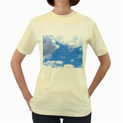 Clouds And Blue Sky Women s Yellow T Shirt by picsaspassion
