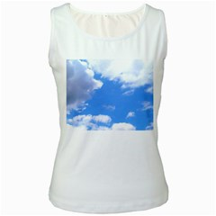Clouds And Blue Sky Women s White Tank Top by picsaspassion