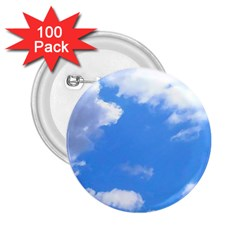 Clouds And Blue Sky 2 25  Buttons (100 Pack)  by picsaspassion