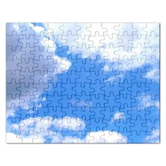 Clouds And Blue Sky Rectangular Jigsaw Puzzl by picsaspassion