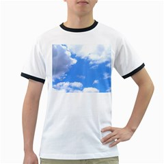 Clouds And Blue Sky Ringer T Shirts by picsaspassion