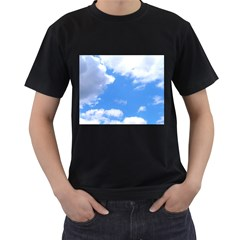 Clouds And Blue Sky Men s T Shirt (black) (two Sided) by picsaspassion