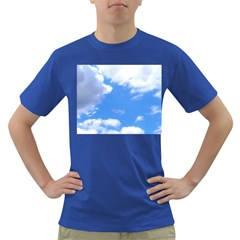 Clouds And Blue Sky Dark T Shirt by picsaspassion