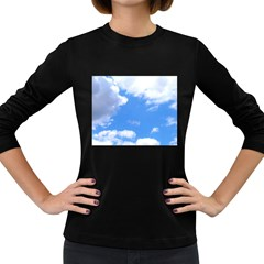 Clouds And Blue Sky Women s Long Sleeve Dark T Shirts by picsaspassion