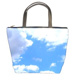 Clouds And Blue Sky Bucket Bags by picsaspassion