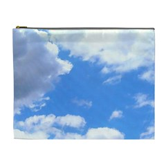 Clouds And Blue Sky Cosmetic Bag (xl) by picsaspassion