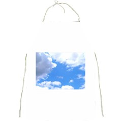 Clouds And Blue Sky Full Print Aprons by picsaspassion