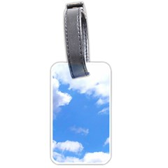 Clouds And Blue Sky Luggage Tags (one Side)  by picsaspassion
