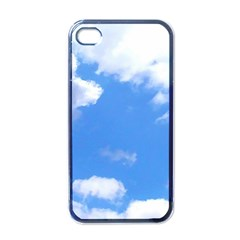 Clouds And Blue Sky Apple Iphone 4 Case (black) by picsaspassion