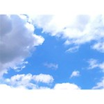 Clouds and blue sky WORK HARD 3D Greeting Card (7x5) Back