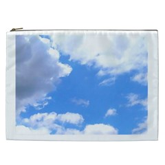Clouds And Blue Sky Cosmetic Bag (xxl)  by picsaspassion