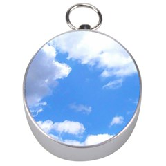 Clouds And Blue Sky Silver Compasses by picsaspassion