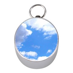 Clouds And Blue Sky Mini Silver Compasses by picsaspassion