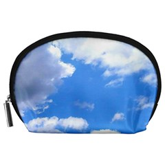 Clouds And Blue Sky Accessory Pouches (large)  by picsaspassion