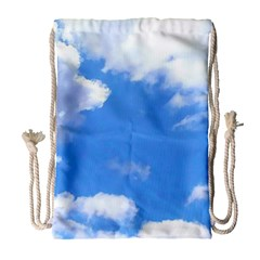 Clouds And Blue Sky Drawstring Bag (large) by picsaspassion