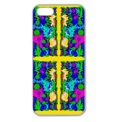 Shimmering Landscape Abstracte Apple Seamless Iphone 5 Case (clear) by pepitasart
