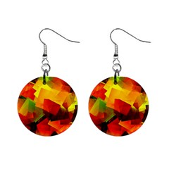 Indian Summer Cubes Mini Button Earrings by designworld65