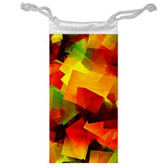 Indian Summer Cubes Jewelry Bags by designworld65