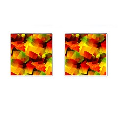 Indian Summer Cubes Cufflinks (square) by designworld65
