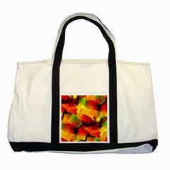 Indian Summer Cubes Two Tone Tote Bag by designworld65