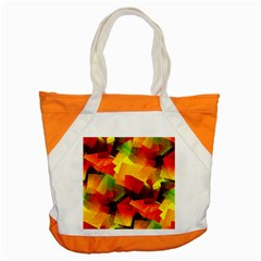 Indian Summer Cubes Accent Tote Bag by designworld65