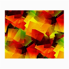 Indian Summer Cubes Small Glasses Cloth (2 Side) by designworld65