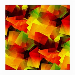 Indian Summer Cubes Medium Glasses Cloth (2 Side) by designworld65