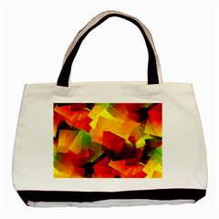 Indian Summer Cubes Basic Tote Bag (two Sides) by designworld65